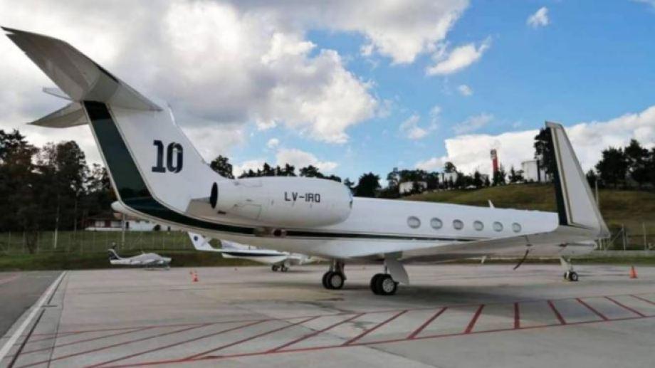 Para viajar a México, el gobierno nacional alquiló el avión de Messi. Foto gentileza.