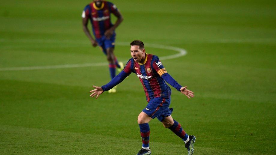 Lionel Messi y sus últimos festejos en Barcelona. Su contrato termina a mitad de año.