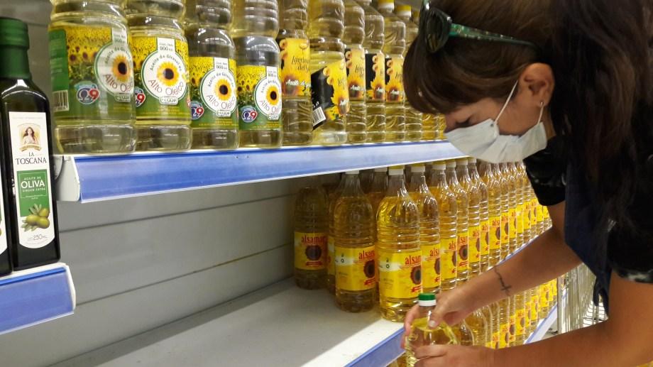 En la región, se notó el faltantes de productos en supermercados. Foto  : Pablo Leguizamon