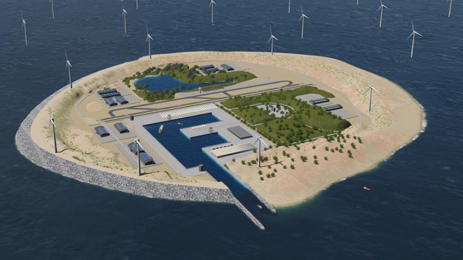 En la isla artificial que se creará como parte del proyecto eólico se podrá elaborar hidrógeno a partir de la energía del viento.
