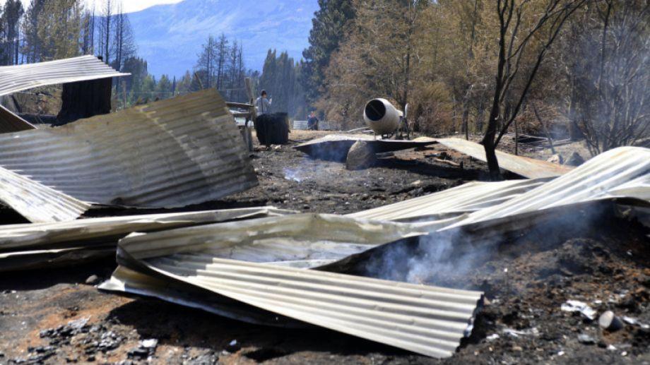 Así quedó la zona de desastre, en la región del departamento de Bariloche. Foto: archivo.-