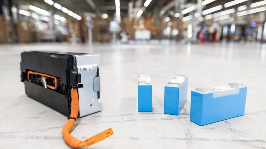 Celdas de baterías de litio.