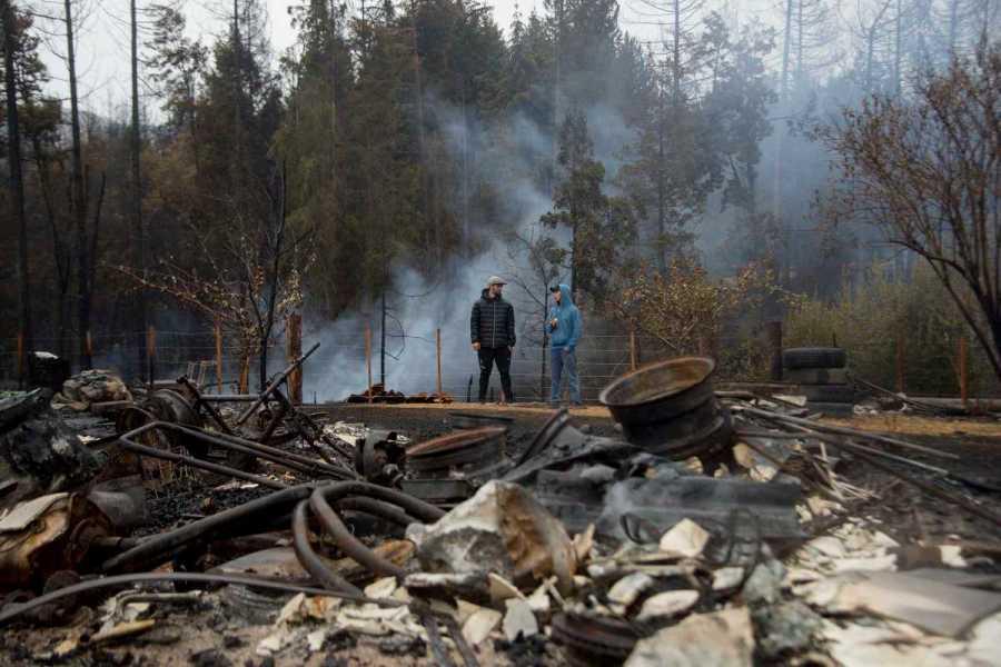 Las devastadoras imágenes del incendio en la Patagonia