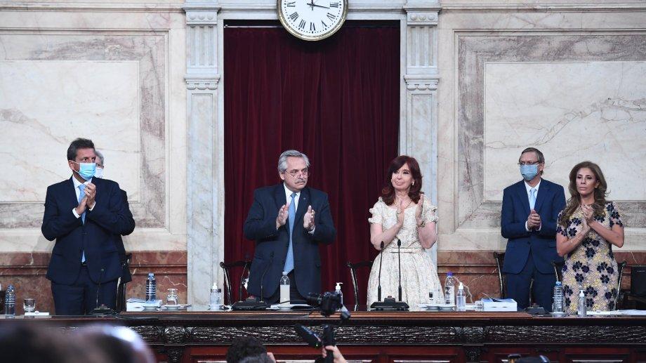 El presidente dio su discurso este mediodía. (@AgenciaTelam).-