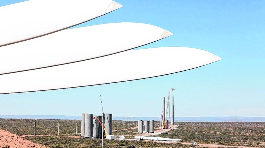 El parque eólico Vientos Neuquinos I,  un proyecto de la ADI-NQN que financió y desarrolló AES, quedó operativo a mediados de 2020. Foto: César Izza