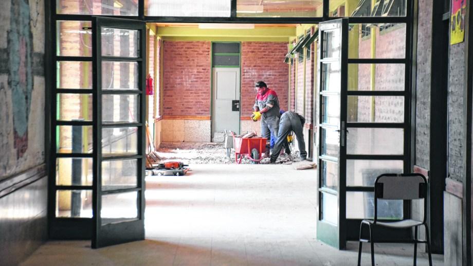 Las tareas de mantenimiento en algunos establecimientos no estaban terminadas (Florencia Salto)