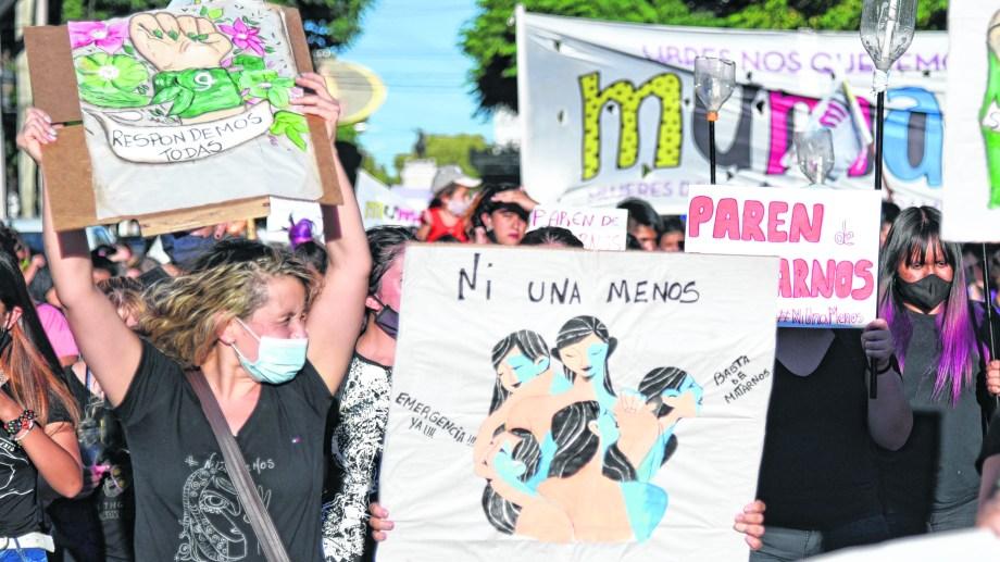 Las mujeres volvieron a copar las calles en reclamo de justicia.
