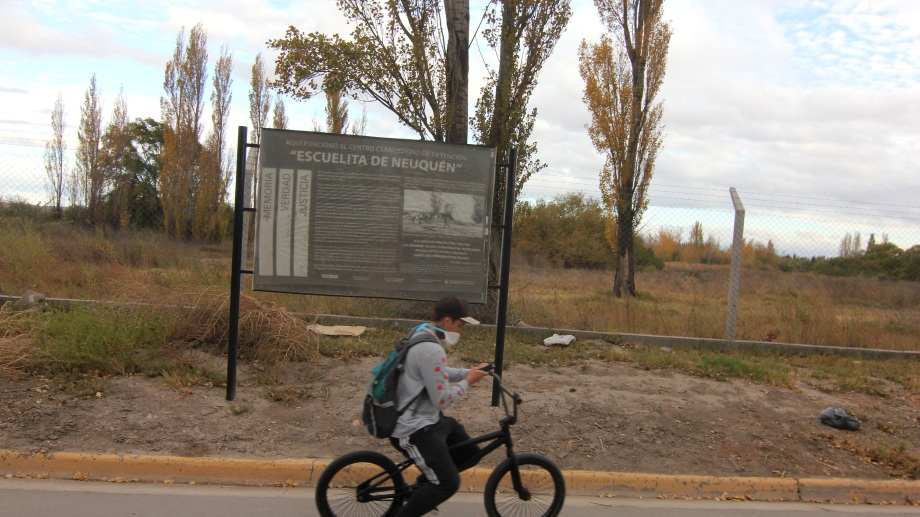 El lugar donde funcionaba el Centro Clandestino de Neuquén. Foto: Oscar Livera