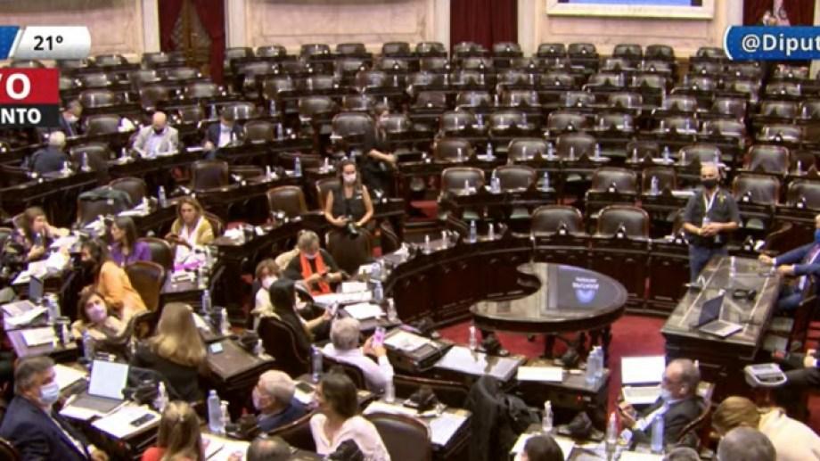 La oposición quiso adelantarse a la sesión del sábado. (Captura).-