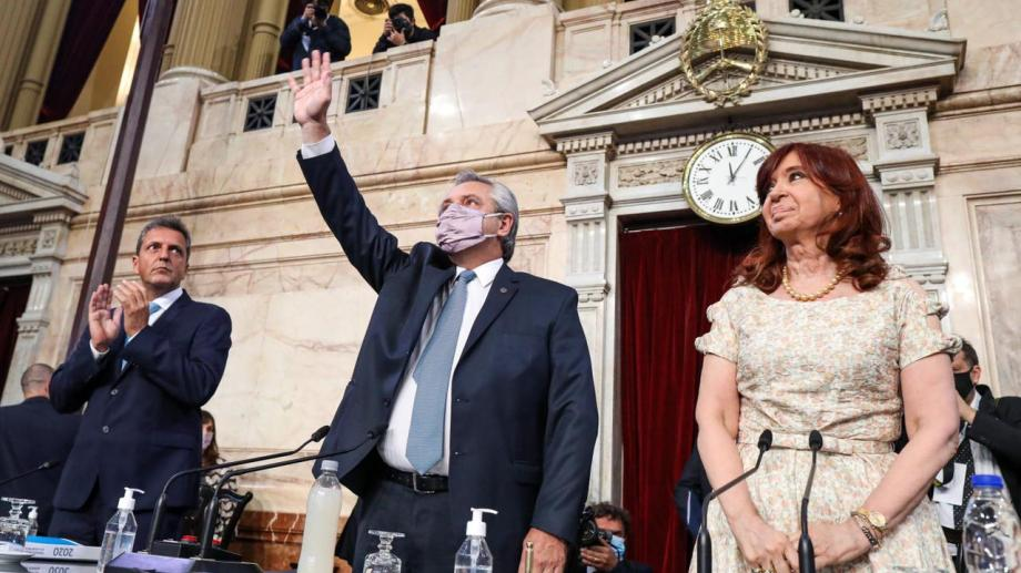 El presidente Alberto Fernández dio su discurso ante la Asamblea Legislativa, que duró una hora y 50 minutos.