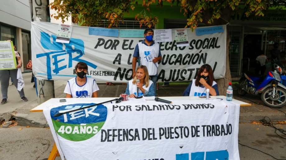 El gremio cuestionó la ayuda estatal para 23 colegios privados de Río Negro. Foto: archivo.