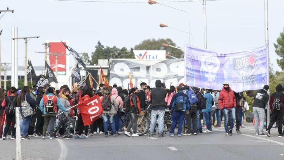 Organizaciones sociales volverán a protestar en la ruta. Foto: Florencia Salto