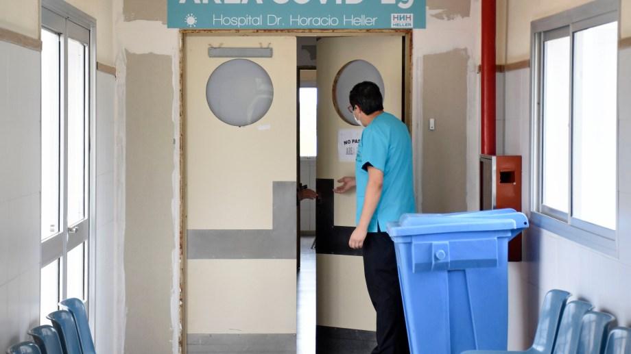 El área covid del Hospital Heller. Foto: Florencia Salto