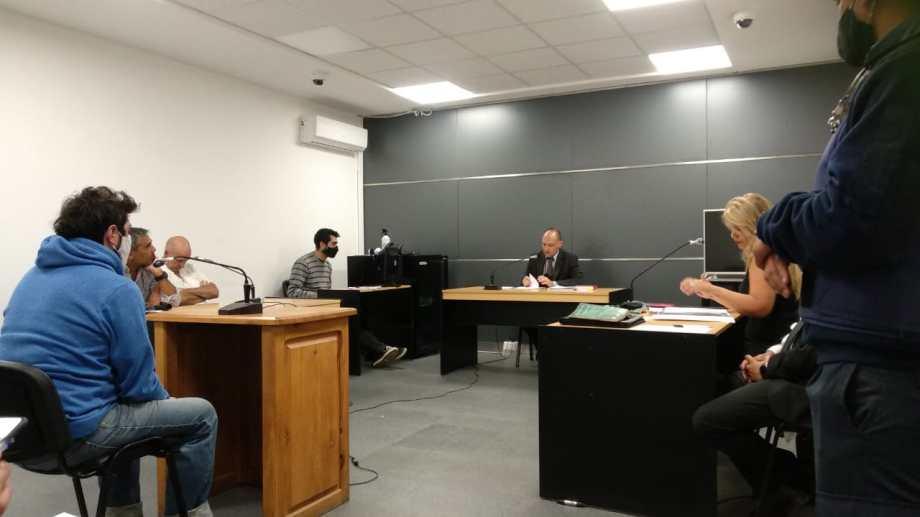 El juez de garantías Juan Pablo Laurence dirigió la audiencia de formulación de cargos contra Sergio Matías Vázquez. (Foto Gentileza)