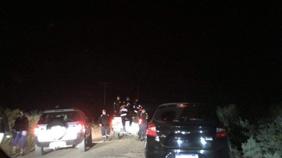 El operativo es intenso en la zona rural de Plottier (@rodrigoramok)