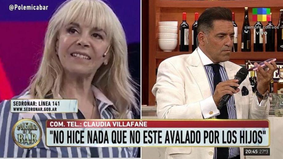 Claudia Villafañe llamó enojada al programa Polémica en el bar