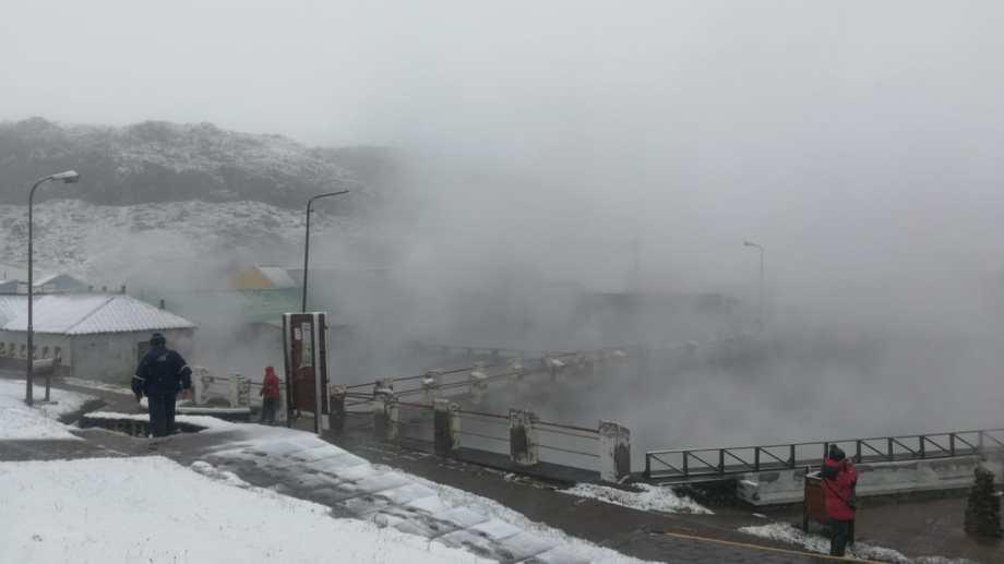 Hoy Copahue amaneció nevado. (foto: gentileza Rody Domina)