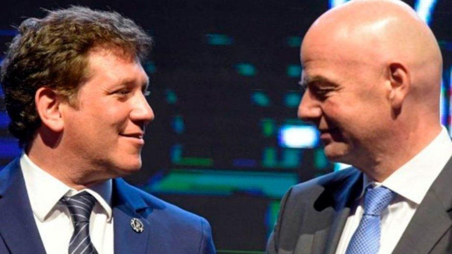 Domínguez e Intantino formaron parte de la reunión virtual.