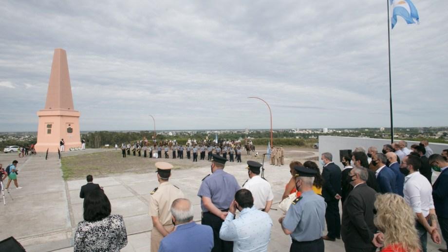 Estuvieron presentes autoridades de las dos ciudades de la Comarca. Foto: Pablo Leguizamón.
