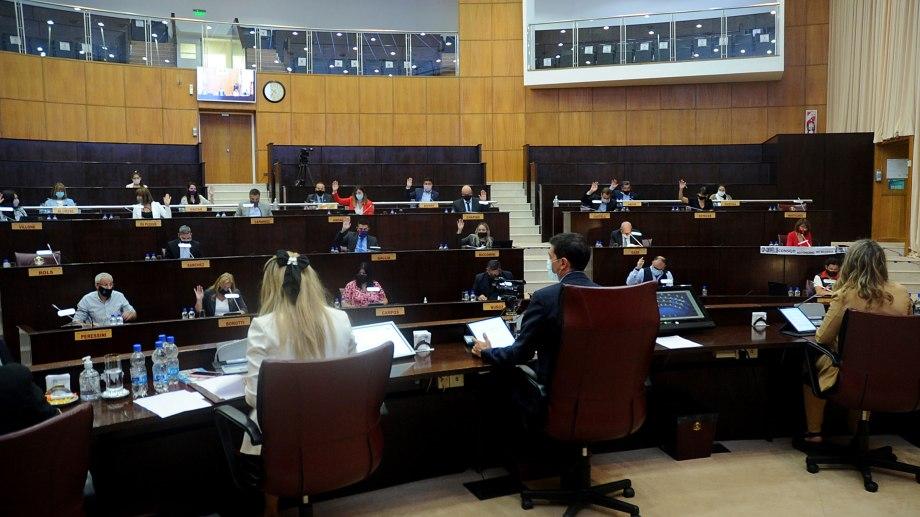La sesión de la Legislatura de ayer. (Gentileza)