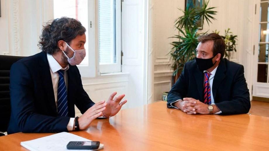 El jefe de Gabinete de la Nación, Santiago Cafiero, recibió al diputado Martín Soria la semana pasada.