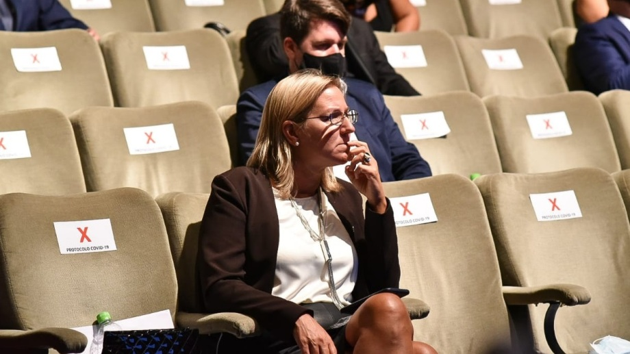 """""""Se olvidó de plantear la enorme deuda generada"""" dijo Martini sobre el discurso de Carreras. Foto: Marcelo Ochoa."""