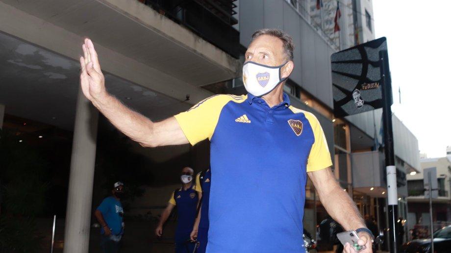 Miguel Ángel Russo y un partido en el que no tiene ningún margen. Foto: Prensa Boca