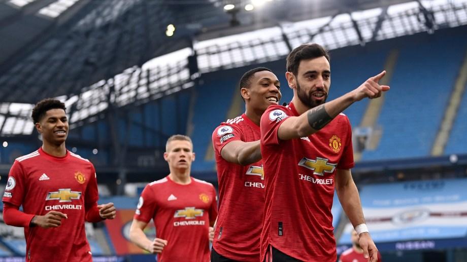 El United ya ganaba a los 2 minutos con un gol de penal de Bruno Fernandes (Foto: AP)