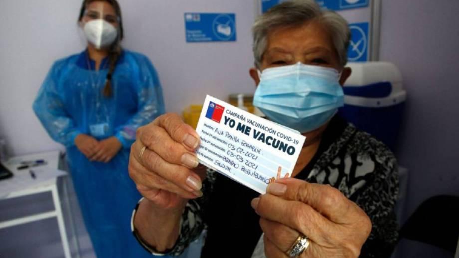 Gran parte de la población chilena está vacunada.