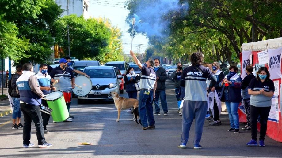 UPCN realizó medidas de fuerza en Río Negro. Foto : Marcelo Ochoa