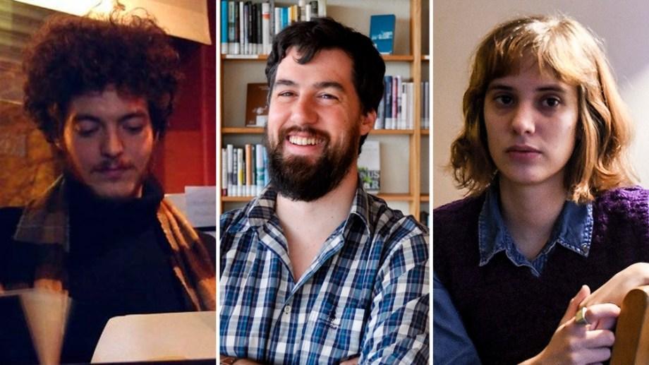 Seleccionados. Michel Nieva, Martín Felipe Castagnet y Camila Fabbri.