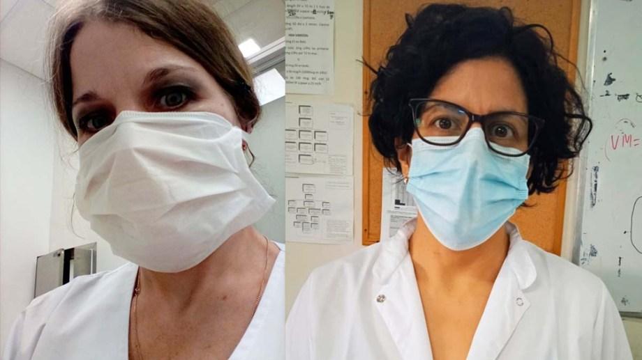 Las científicas que lideraron la investigación en el Instituto de Microbiología y el Posadas.