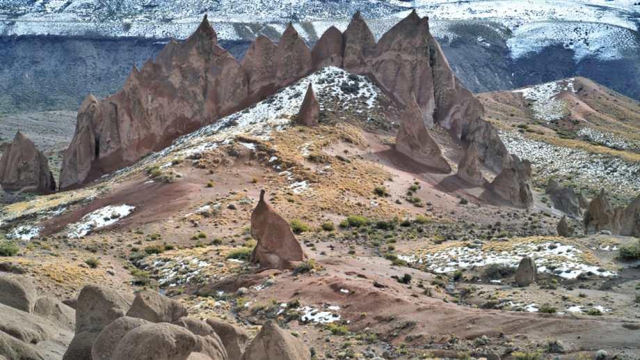 Los Bolillos, a 19 km de Varvarco en el norte neuquino. Foto: Martín Muñoz.