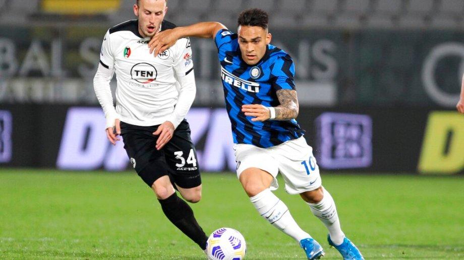 Lautaro Martínez fue titular en el Inter. (Foto: AP)