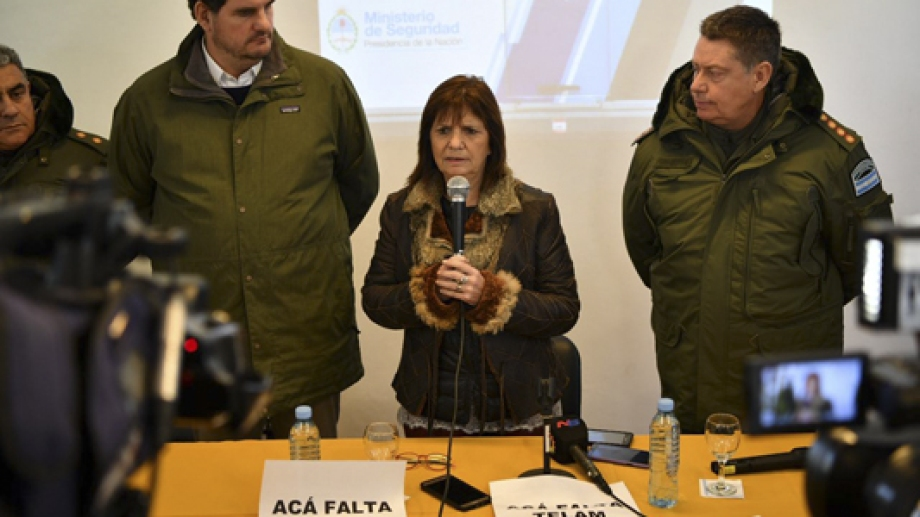 Patricia Bullrich regresa a Bariloche, esta vez con una agenda que incluye un encuentro con víctimas de violencia por parte de grupos mapuches. Archivo