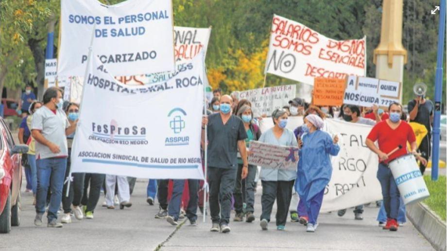 Trece días después del último paro, los trabajadores vuelven a la calle. (Foto: Juan Thomes)