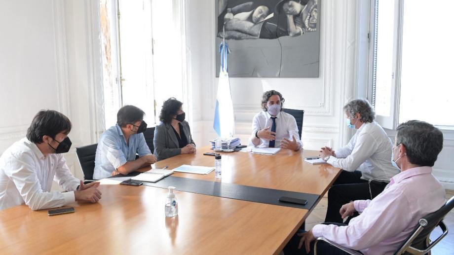 Cafiero encabeza una nueva reunión con autoridades porteñas y bonaerenses para analizar la situación epidemiológica en el Área Metropolitana de Buenos Aires (AMBA). (Gentileza).-