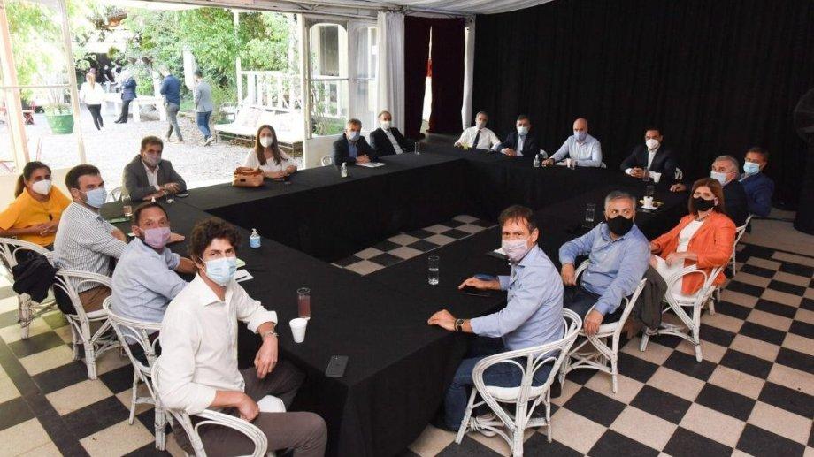 La mesa nacional de Juntos por el Cambio mantuvo una reunión en Palermo.