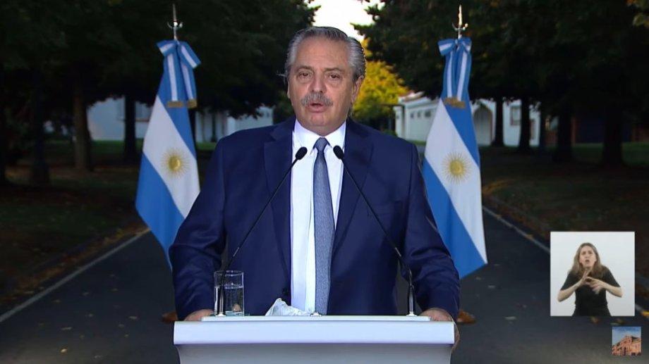 """El presidente aseguró que """"Argentina ha entrado en la segunda ola""""."""