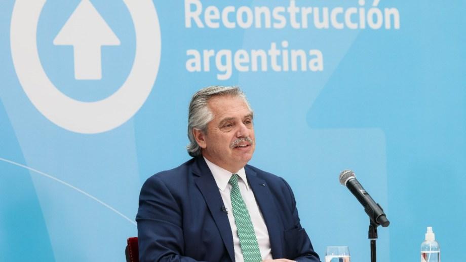 """Fernández pidió no hacer """"política con la pandemia"""". (Gentileza).-"""