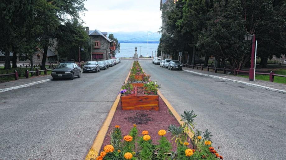 Una postal de las calles vacías de Bariloche en la cuarentena del año pasado. Foto: archivo