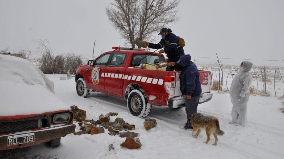 El invierno castiga con gran rigor en la Región Sur rionegrina. Los registros de temperatura alcanzan los 20 grados bajo cero. Foto: José Mellado.