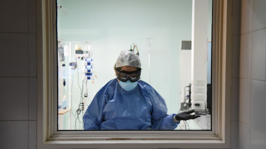 La terapia covid del hospital Castro Rendón, el de mayor complejidad. Foto: Florencia Salto