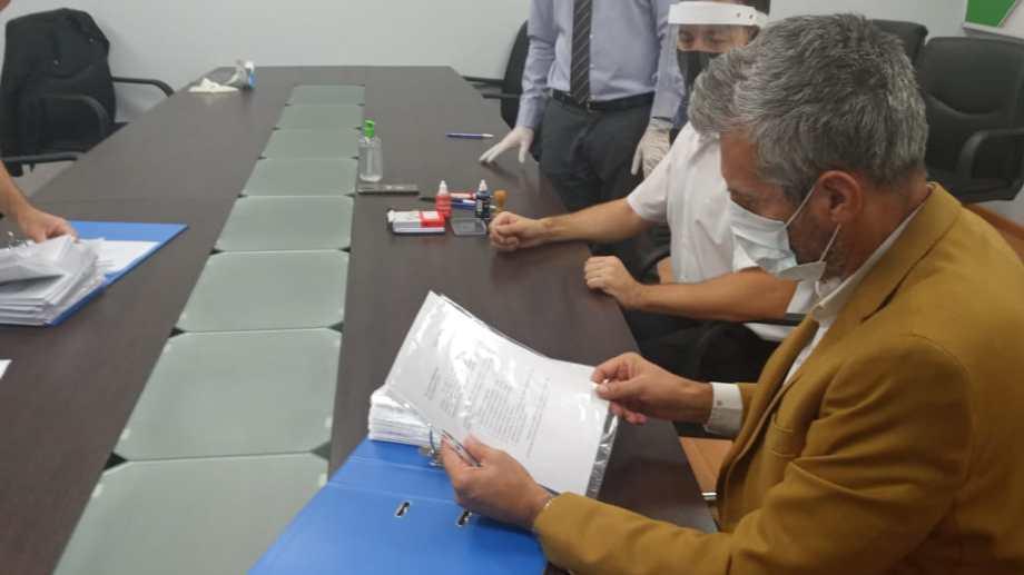La junta electoral sólo recibió la documentación de los candidatos de la lista Celeste y Blanca (gentileza)
