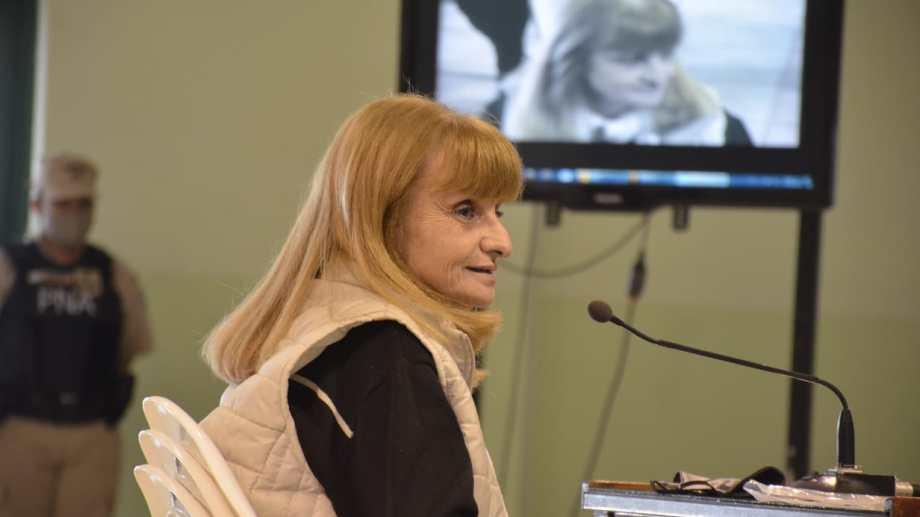 Silvia Tronelli describió el suplicio de los viajes de su padre Orlando, en busca de su hermana Mirta, desaparecida en Bahia Blanca (foto Yamil Regules)