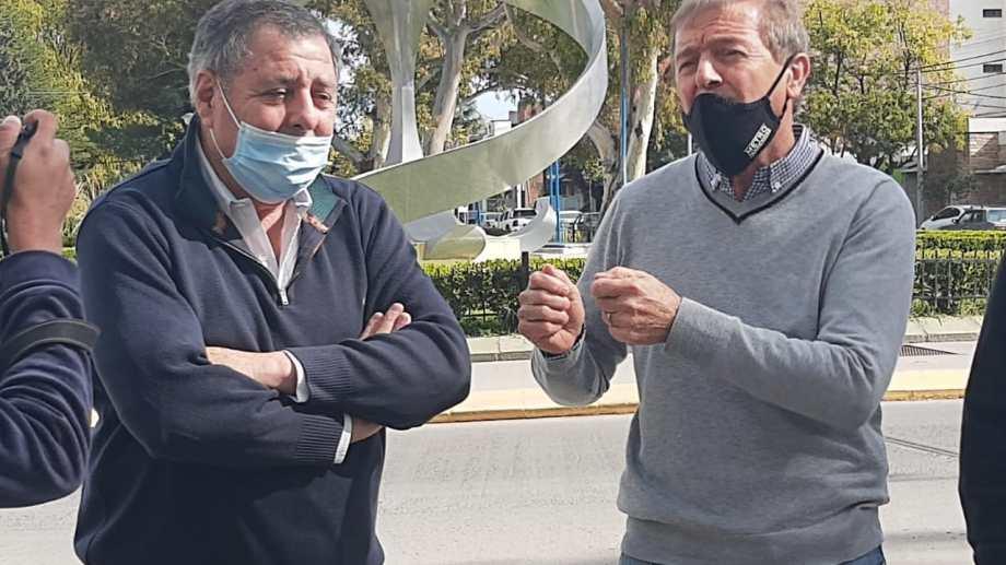 De Angeli visitó la región en apoyo a la precandidatura a diputado nacional de Aníbal Tortoriello.