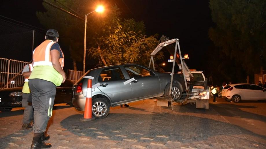 Se controlaron 300 vehículos  en tres puntos estratégicos de Neuquén. Foto: Gentileza