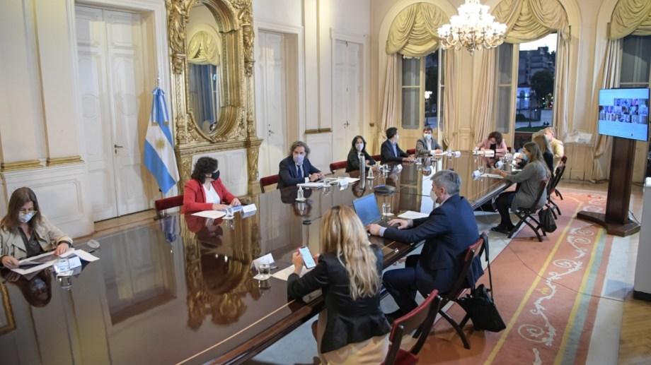 La reunión fue durante la tarde noche, en la Casa Rosada.