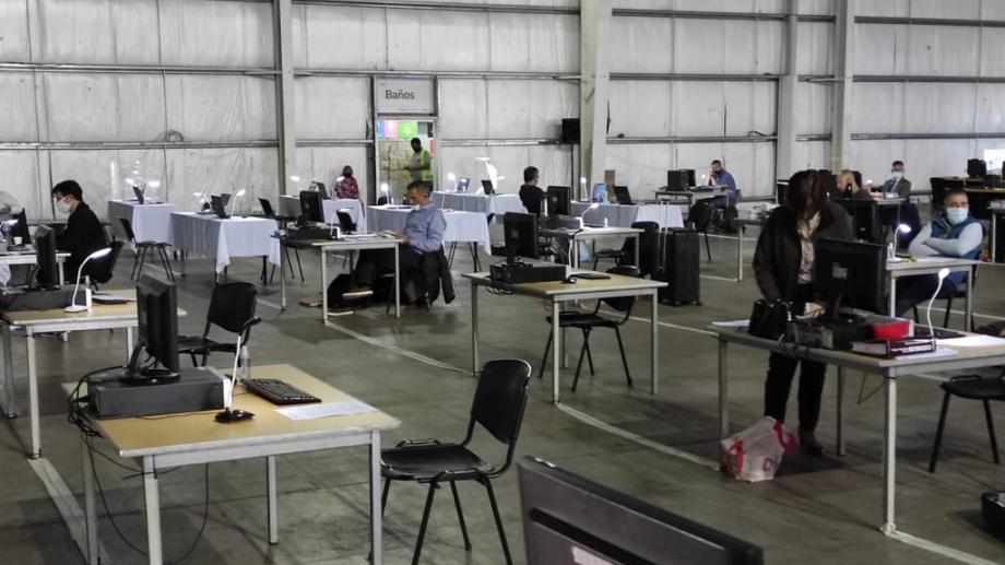 Los postulantes para ser juez federal en Bariloche rindieron su examen semanas atrás en Tecnópolis. Foto: Gentileza