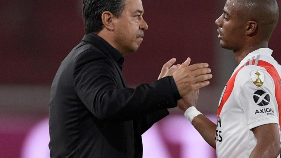 Gallardo podrá contar con De La Cruz, que salió lesionado ante Colón.